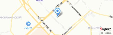 Хайвэй на карте Красноярска