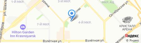 Тибет на карте Красноярска