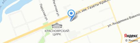 Флаер-3 на карте Красноярска