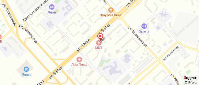 Карта расположения пункта доставки Красноярск 9 Мая в городе Красноярск