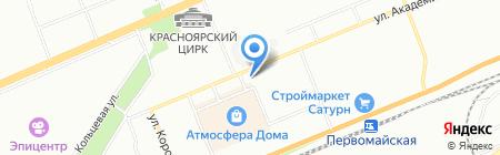Триумф Авто на карте Красноярска