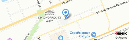 Мебельер на карте Красноярска