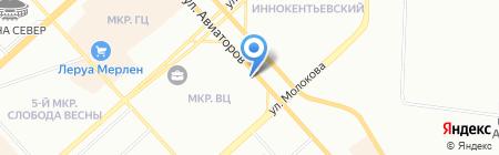 Милавица-Новосибирск на карте Красноярска