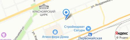 Обои центр на карте Красноярска