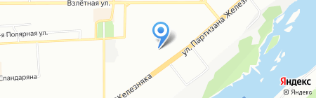 Дален на карте Красноярска