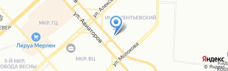 Пункт обмена отработанных энергосберегающих ламп на карте Красноярска
