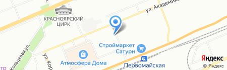 КрасВентСтрой на карте Красноярска