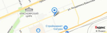 Виндор на карте Красноярска