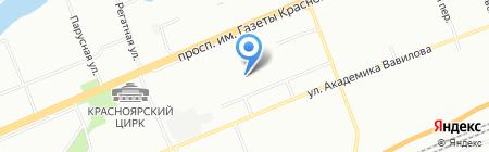 Забота детства на карте Красноярска