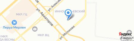Акадеша на карте Красноярска