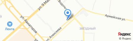Северный на карте Красноярска