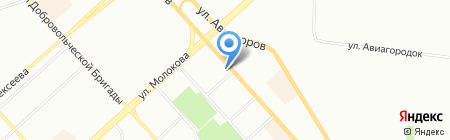 Емеля-сити на карте Красноярска