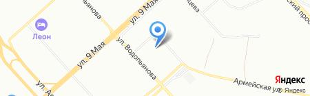 Сабрина на карте Красноярска