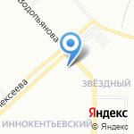 Стрекоза на карте Красноярска