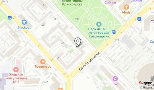 Центр защиты информации. Схема проезда в Красноярске