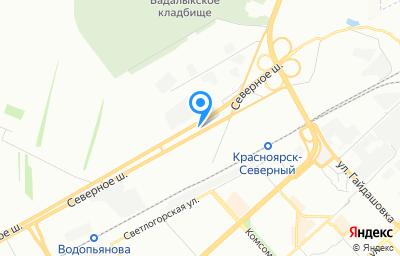 Местоположение на карте пункта техосмотра по адресу г Красноярск, ш Северное, зд 17Р