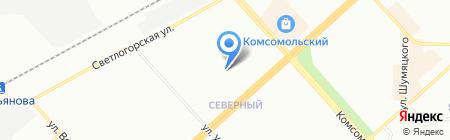 Детский сад №45 на карте Красноярска