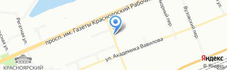 Красноярский дом на карте Красноярска