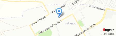 Викинг на карте Красноярска
