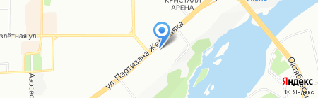 Феликс-Красноярск на карте Красноярска