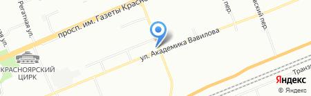 Антураж на карте Красноярска