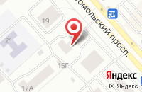 Схема проезда до компании  Ангара  в Красноярске