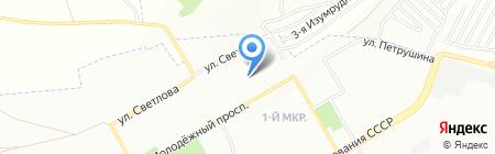 Светлячок на карте Красноярска