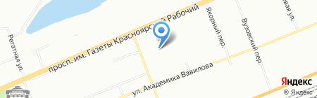 Детский сад №22 на карте Красноярска