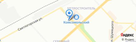 КрасЭкономЭнерго на карте Красноярска