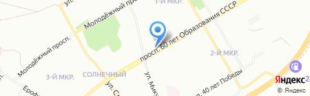 Лисёнок на карте Красноярска