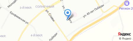 Город Детства на карте Красноярска