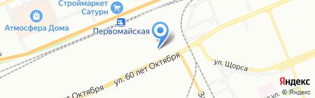 Натяжноff на карте Красноярска