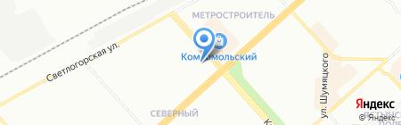 Магазин нижнего белья и чулочно-носочных изделий на карте Красноярска