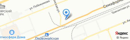 Веритас на карте Красноярска