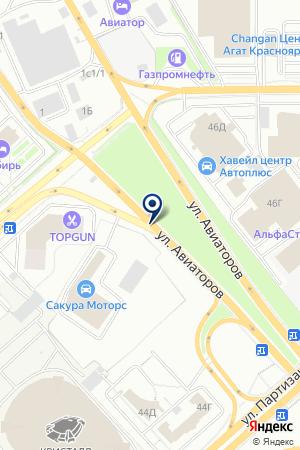 КРАСНОЯРСКНЕФТЕПРОДУКТ на карте Красноярска