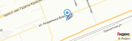 Пенаты на карте Красноярска