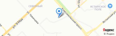 Пчелка на карте Красноярска