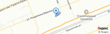 Детский сад №5 на карте Красноярска