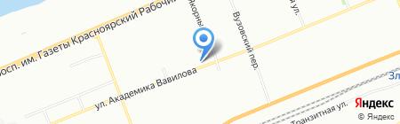 Лекарь Сибири на карте Красноярска