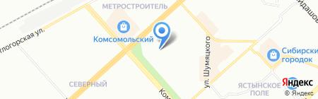Детский сад №54 на карте Красноярска