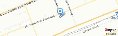 Солнышко на карте Красноярска