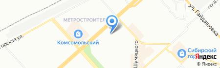 Здравница на карте Красноярска