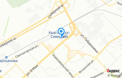 Местоположение на карте пункта техосмотра по адресу г Красноярск, ул Шумяцкого, д 8