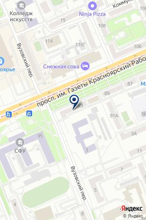 МАГАЗИН РАДИОДЕТАЛИ на карте Красноярска