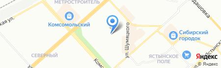 Средняя общеобразовательная школа №69 на карте Красноярска