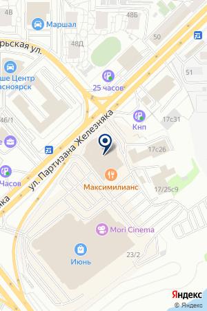 АВТОТЕХЦЕНТР АВТОГРАФ на карте Красноярска