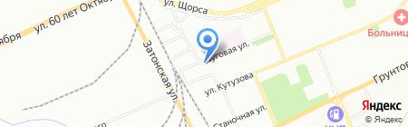 Кутузов на карте Красноярска