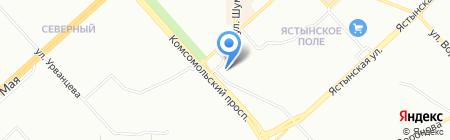 АВИР на карте Красноярска
