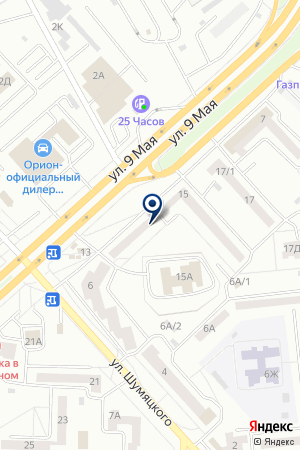 МАГАЗИН 24 ЧАСА на карте Красноярска