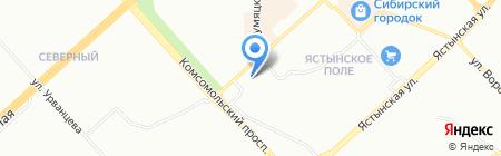 Вундер на карте Красноярска